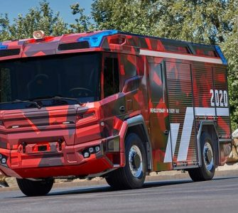VOLVO PENTA ELECTRIC DRIVELINE IS A GAMECHANGER FOR THE FIRE TRUCK OF THE FUTURE