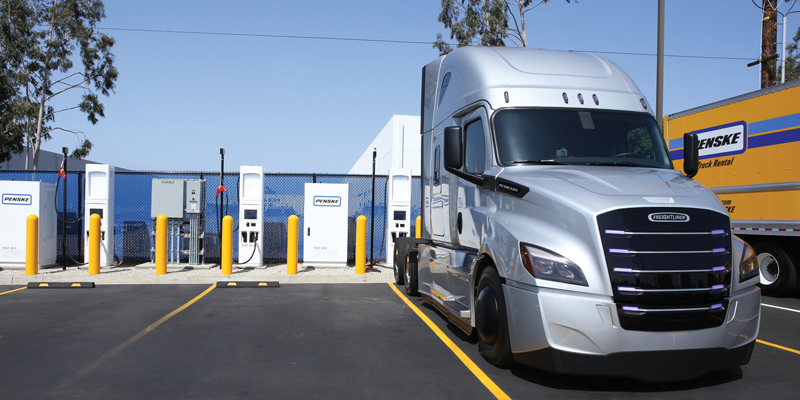 Penske Pilots Sofware That Will Back Electric Truck Charging